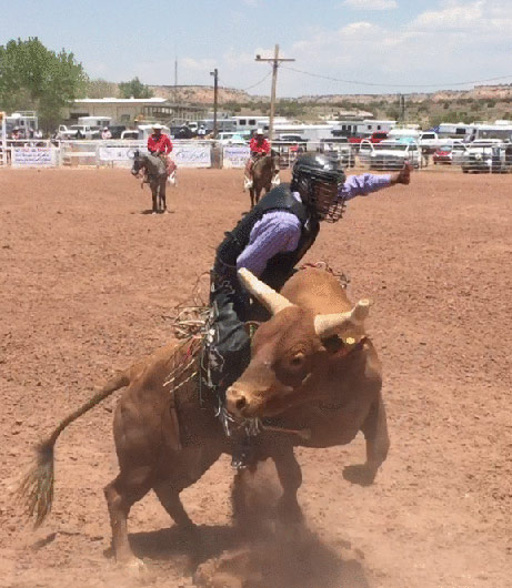Archie Becenti Rodeo Photo
